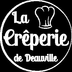 Logo la Crêperie de Deauville blanc transparent